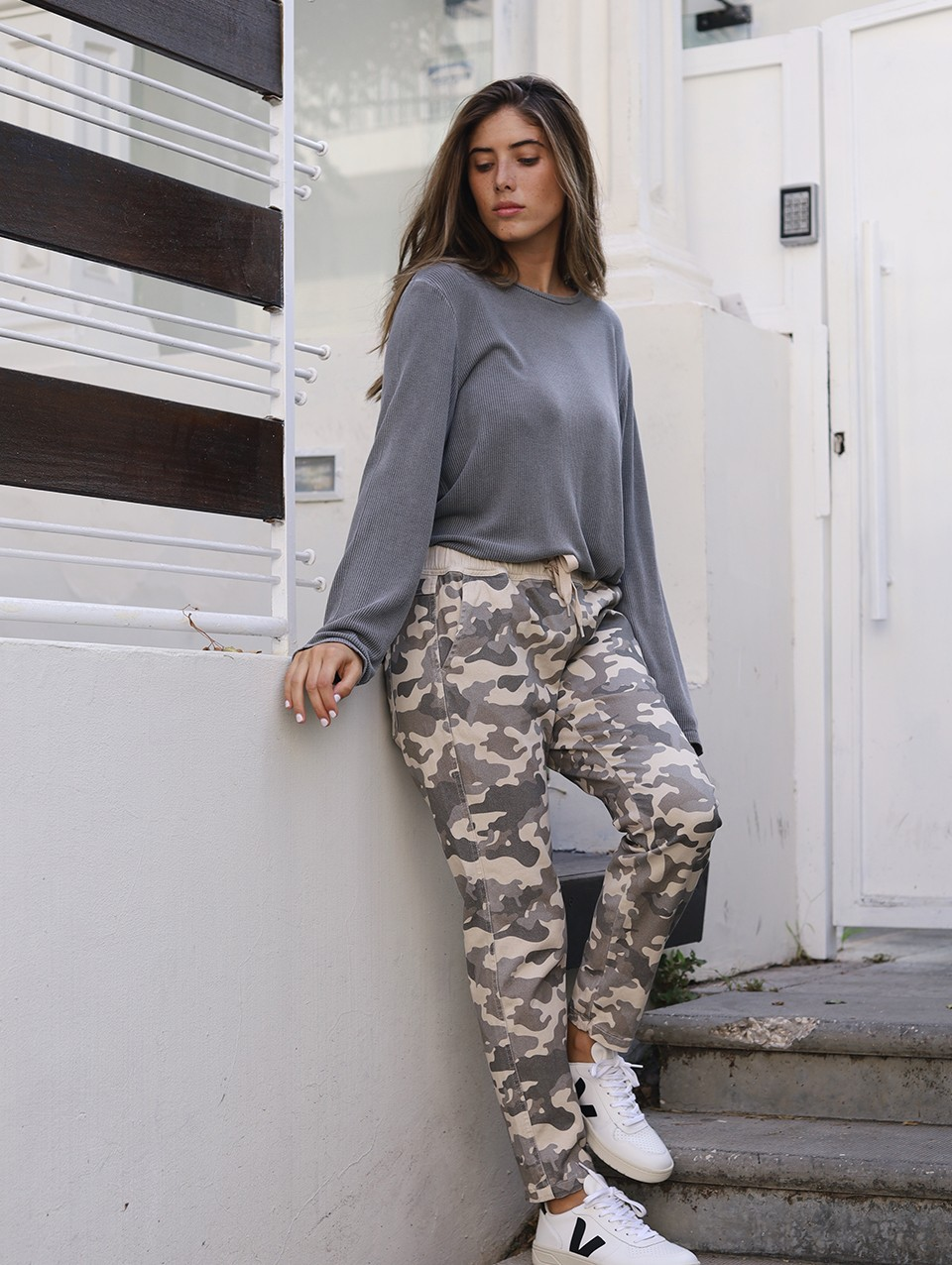 Lulu Long Printed Jogger Pants
