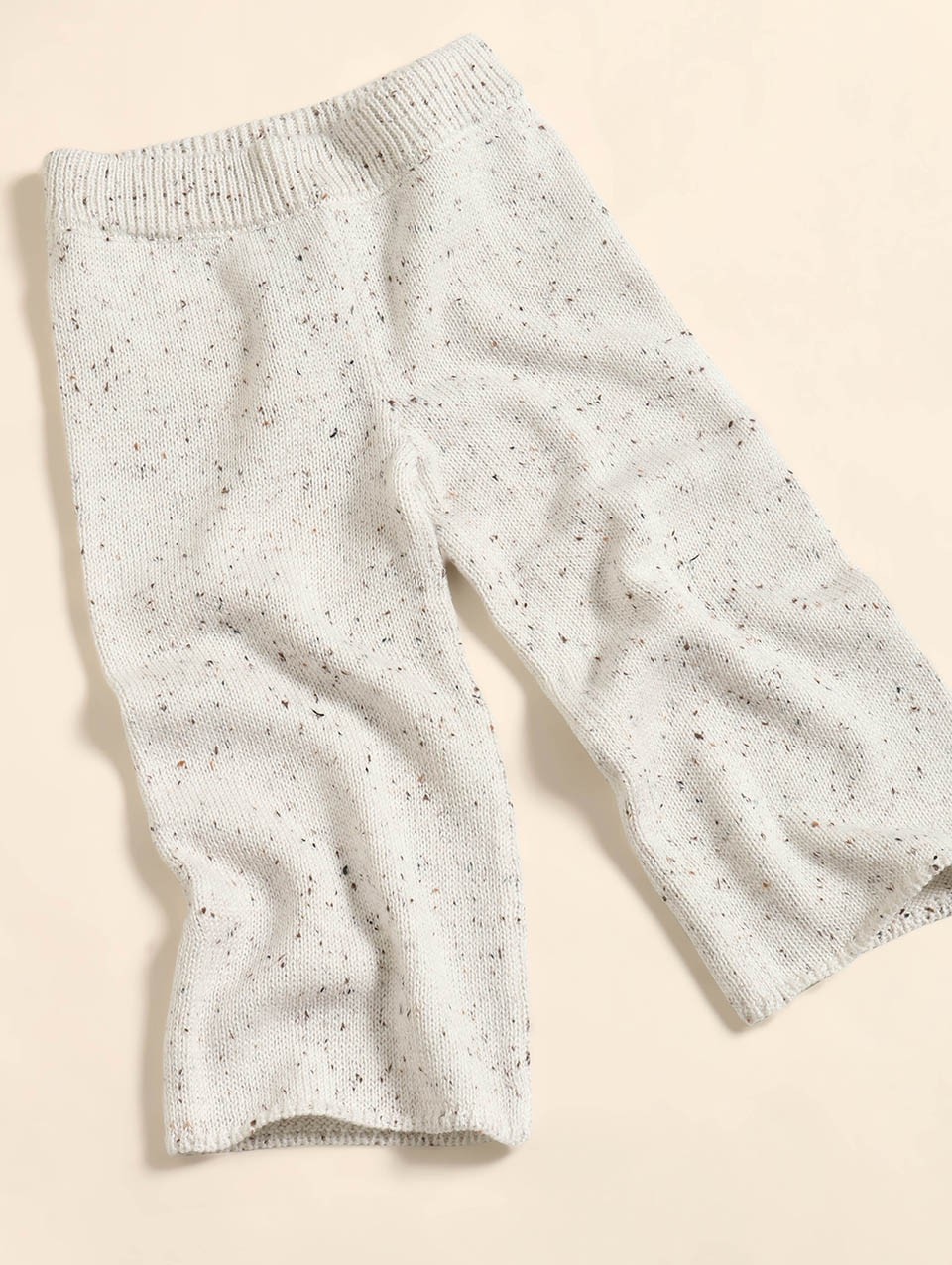 Kids Knit Pants With Elastic Waistband