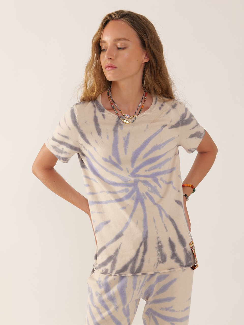 Rob Knitted Tie Dye T-shirt