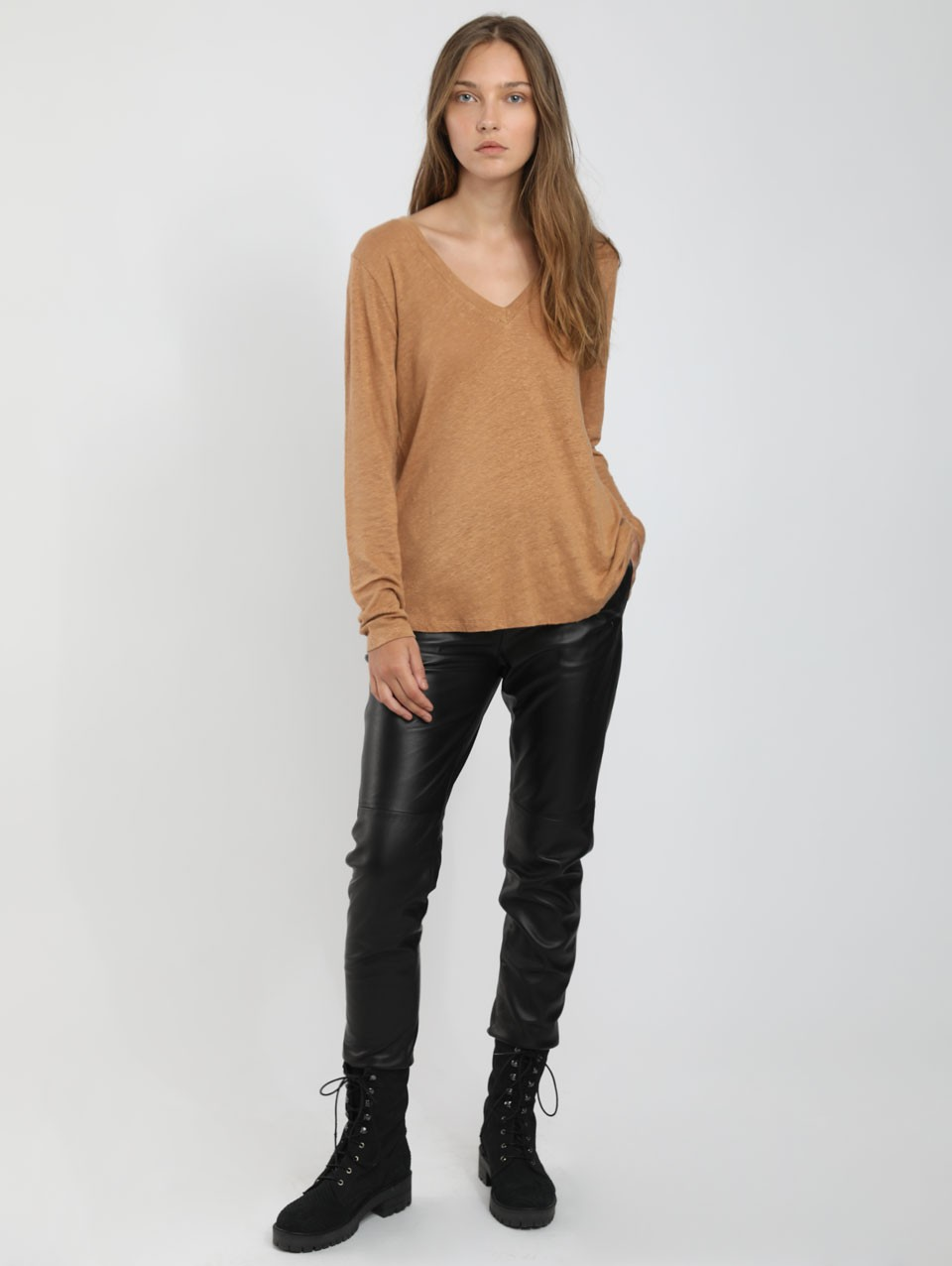 Shay V Neck Jersel Top