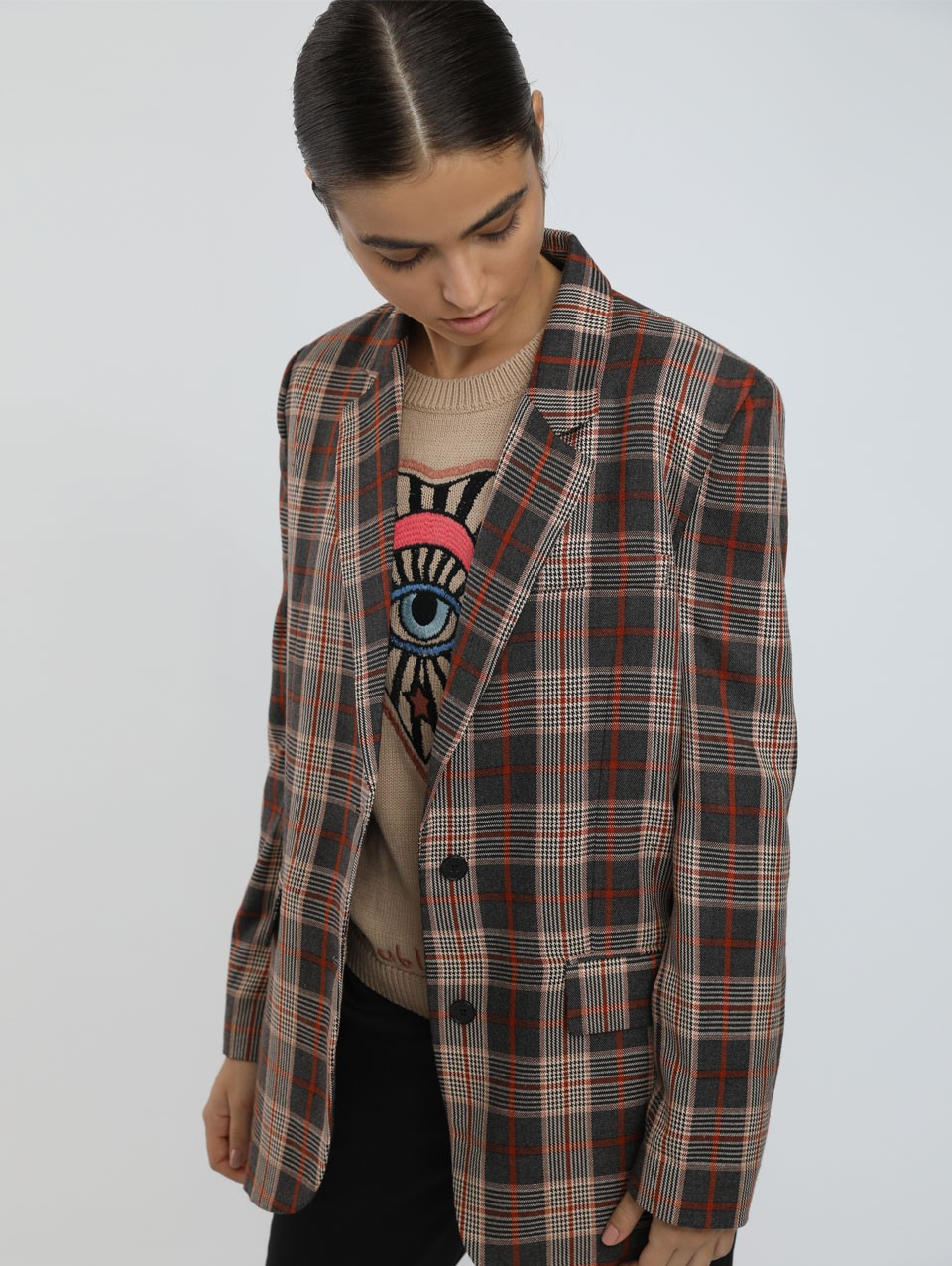 Odell Checkered Tailored Jacket