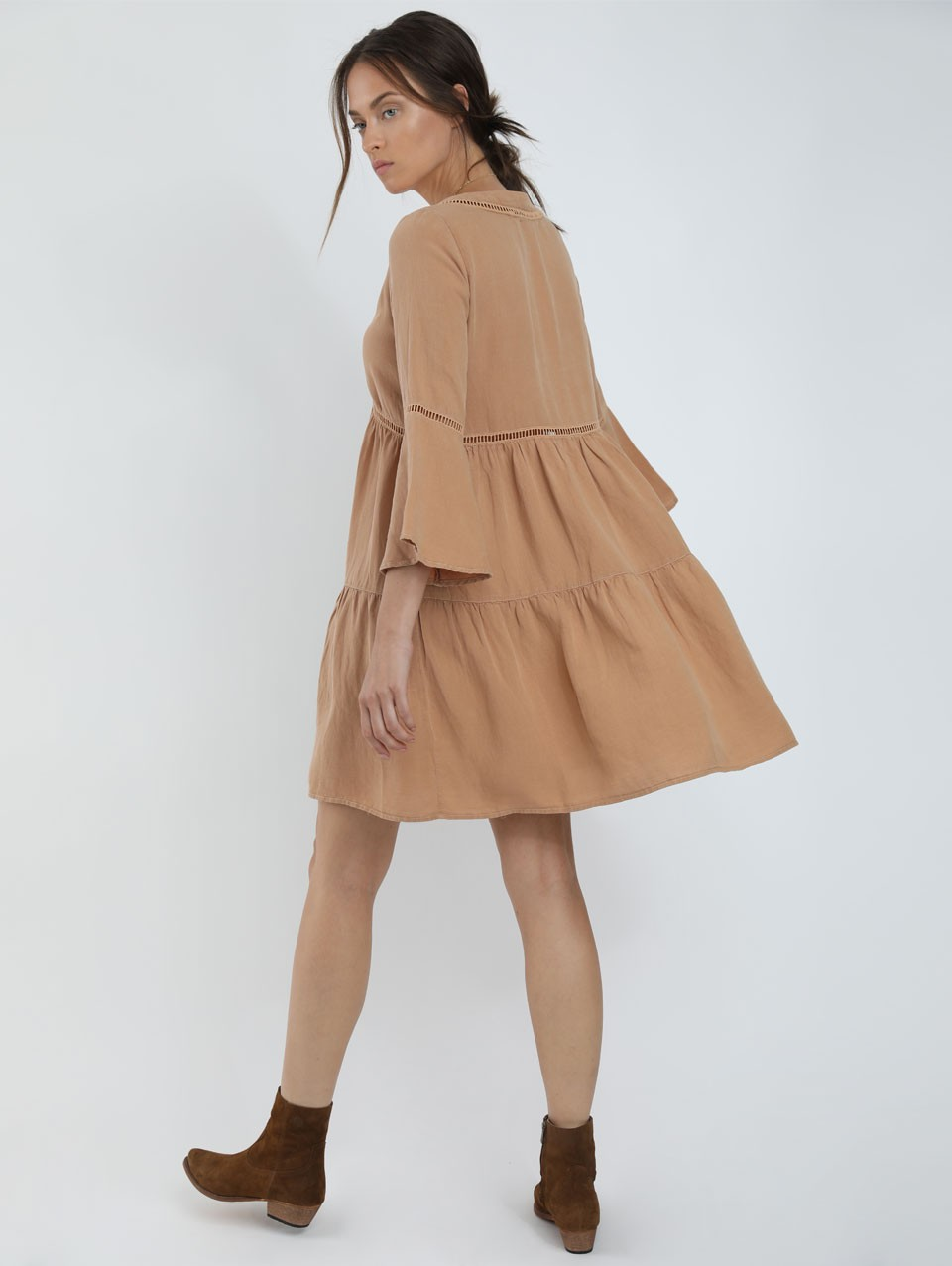Nam Linen Mix Mini Dress