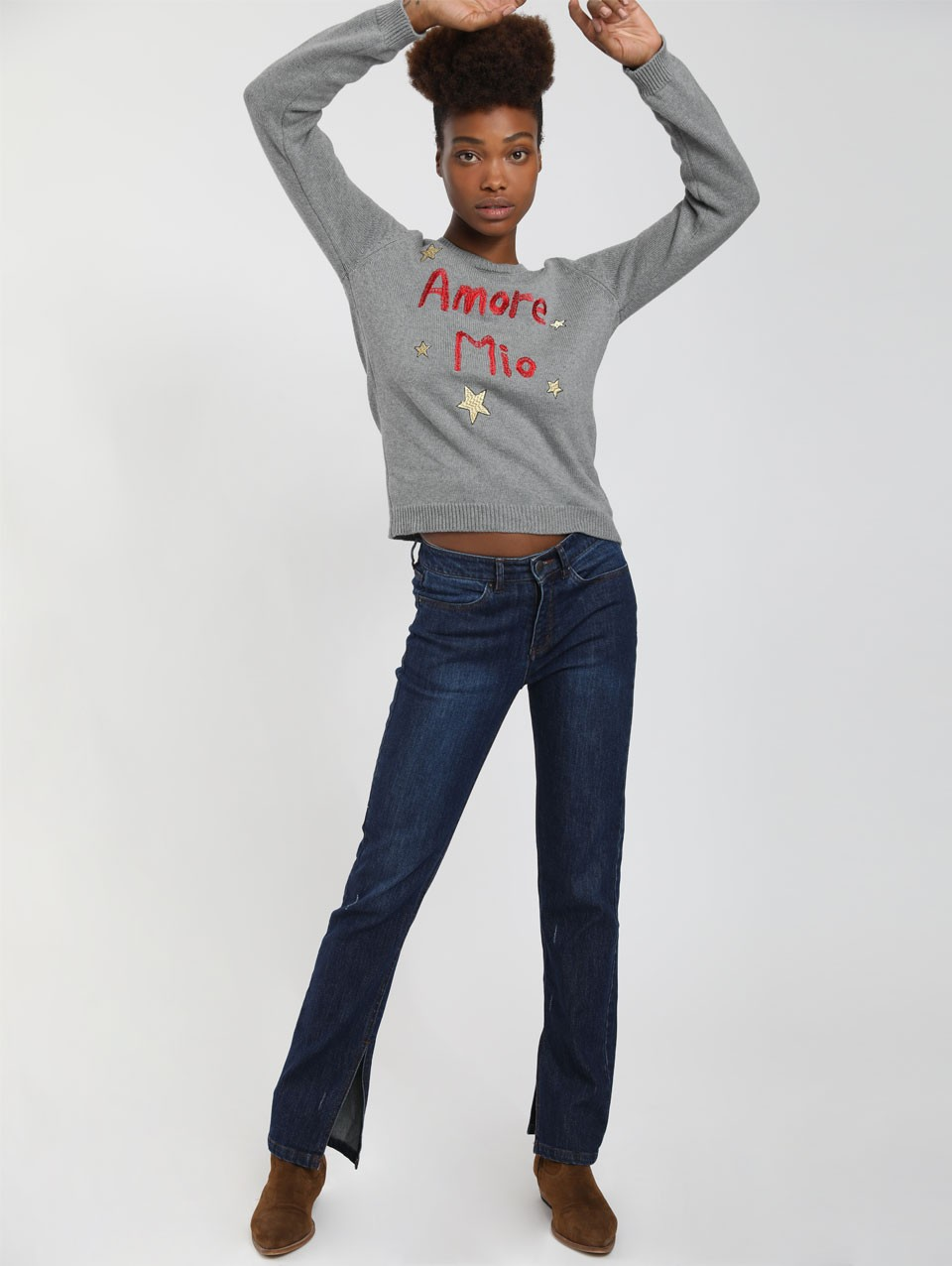 Lani Embroidered Knit Sweater