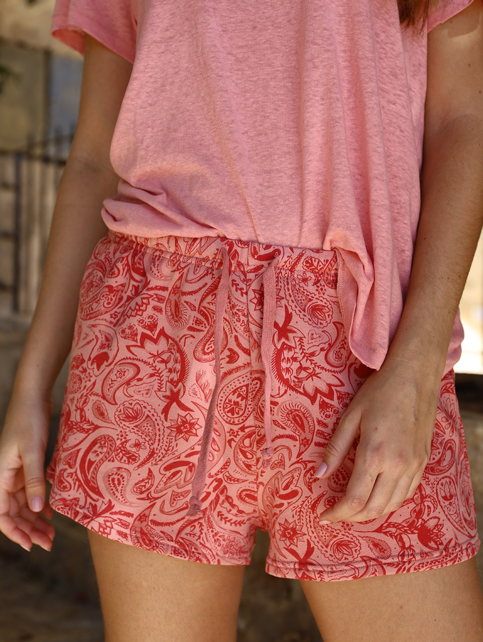 Lucy French Terry Printed Shorts