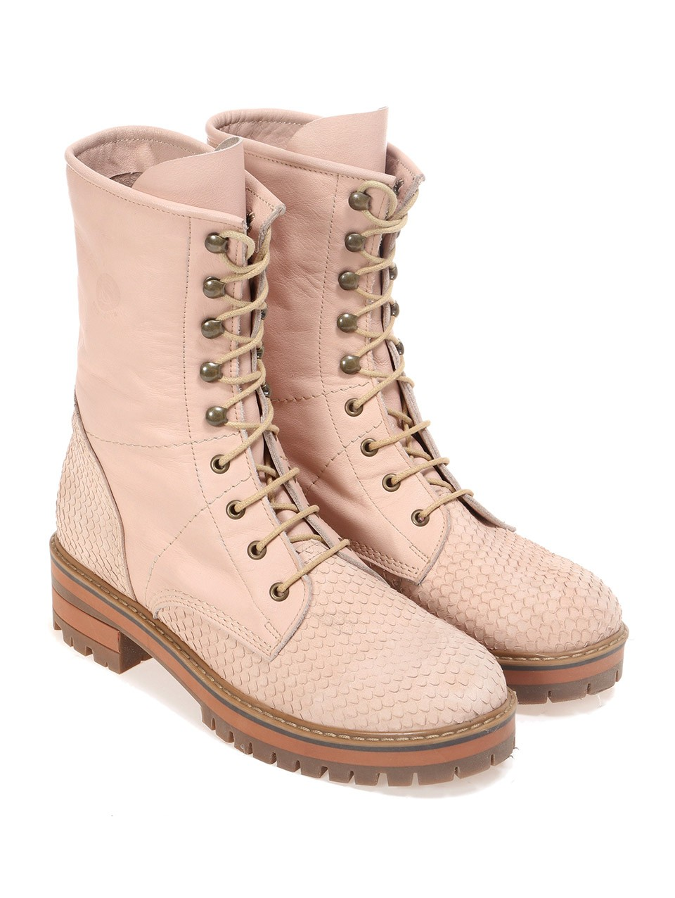 Lace-up Army Boots