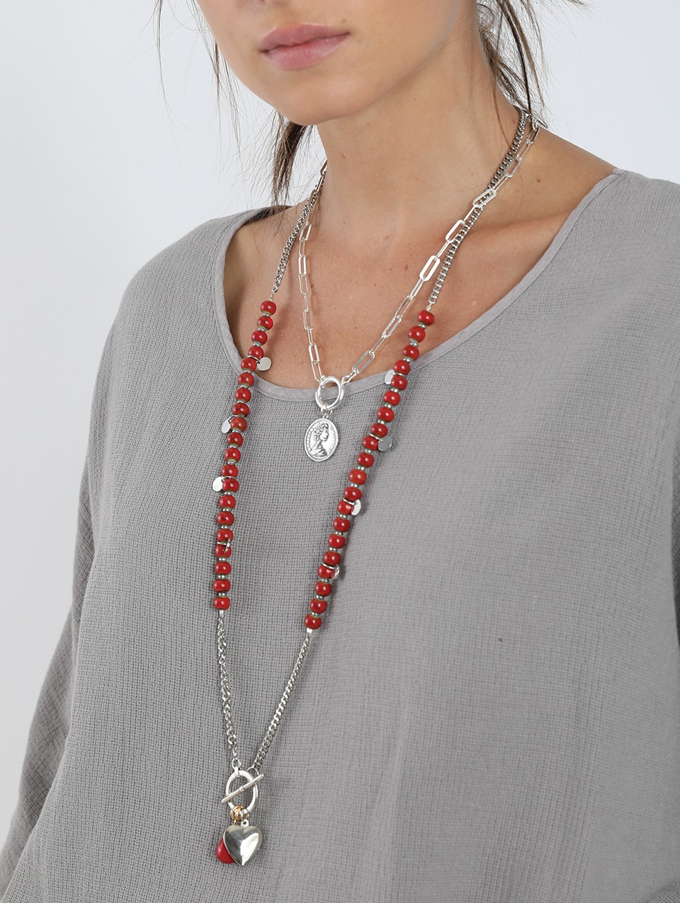 Red Charms Necklace