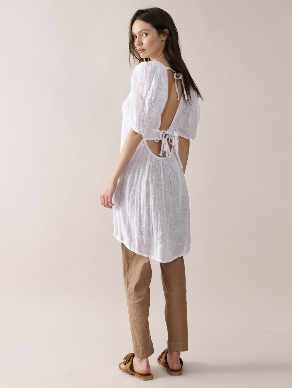 Bianca Puffed Sleeves Mini Dress