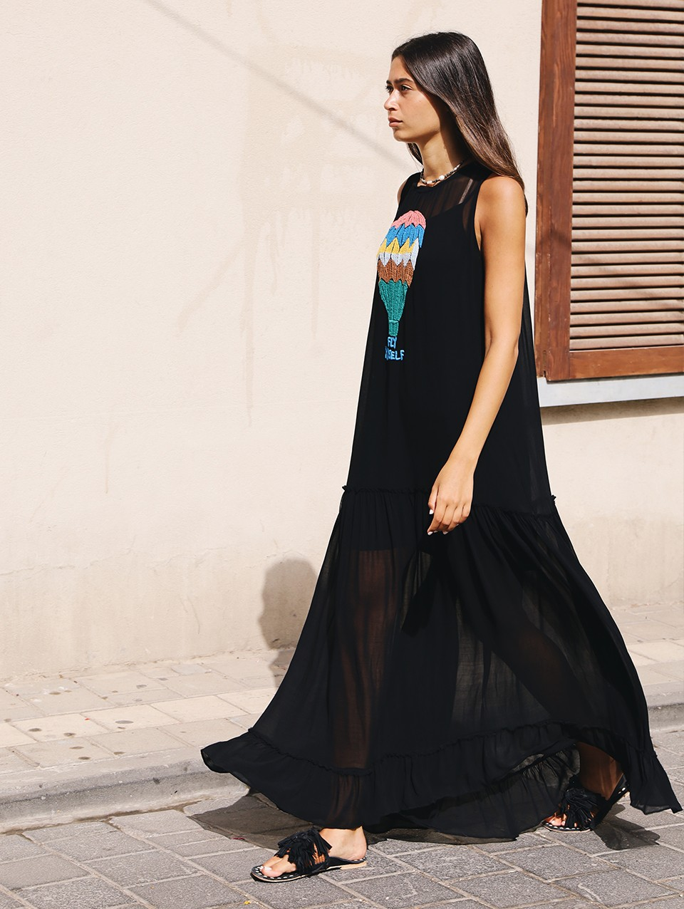 Alma Embroidered Maxi Dress