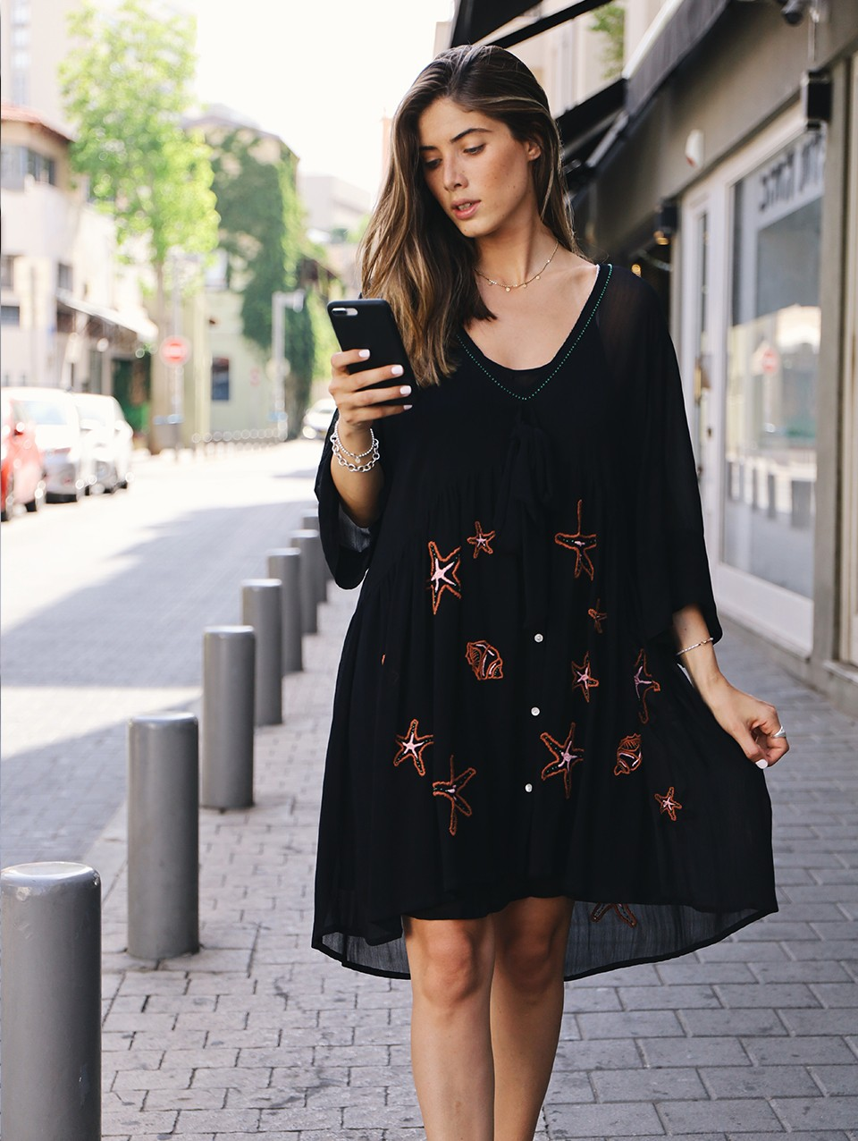 Electra Embroidered Mini Dress