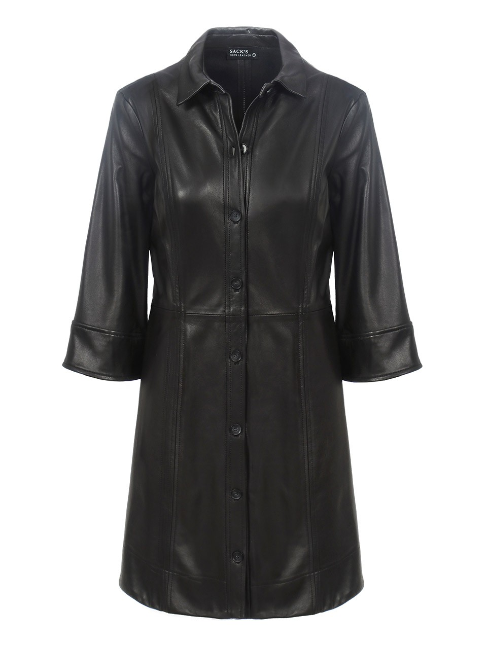 Lordi Bell Sleeves Mini Leather Dress