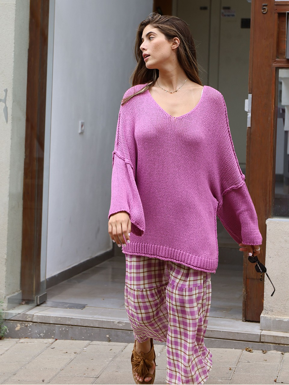 Heiley Open Knit Cotton