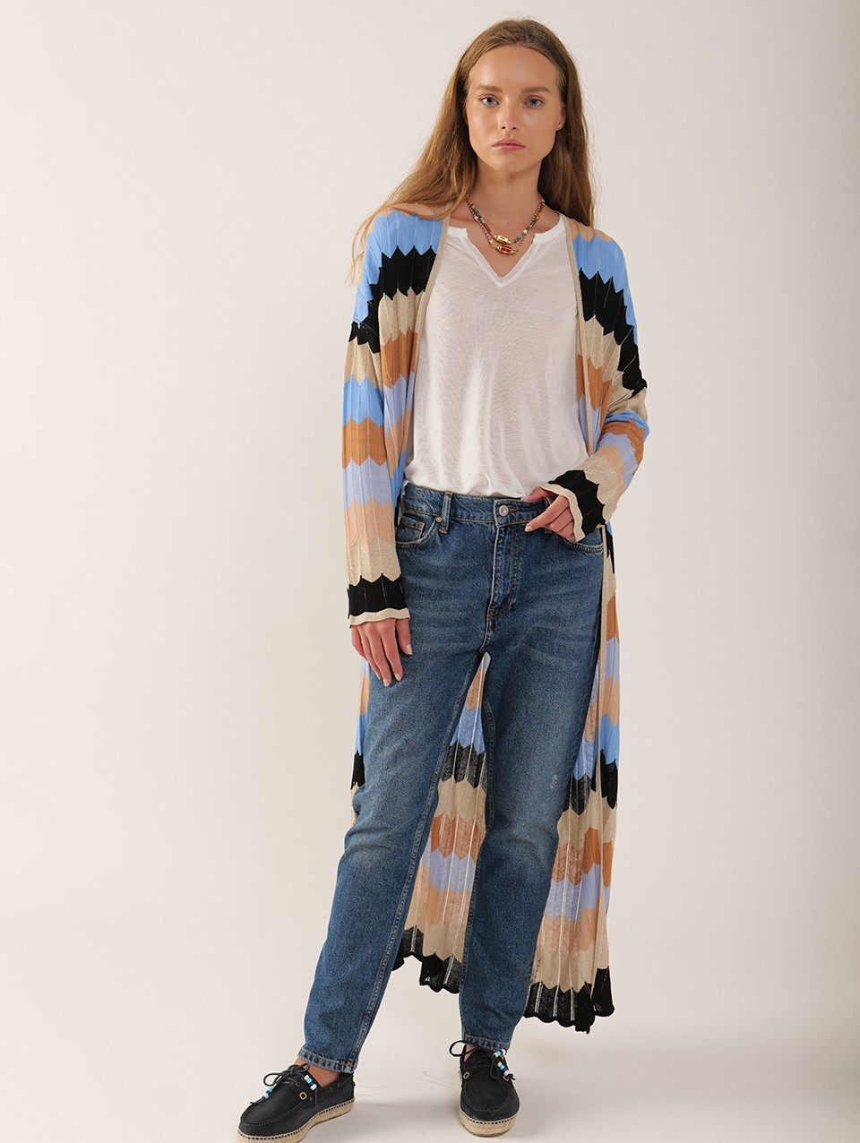 Lia Long Knitted Cardigan