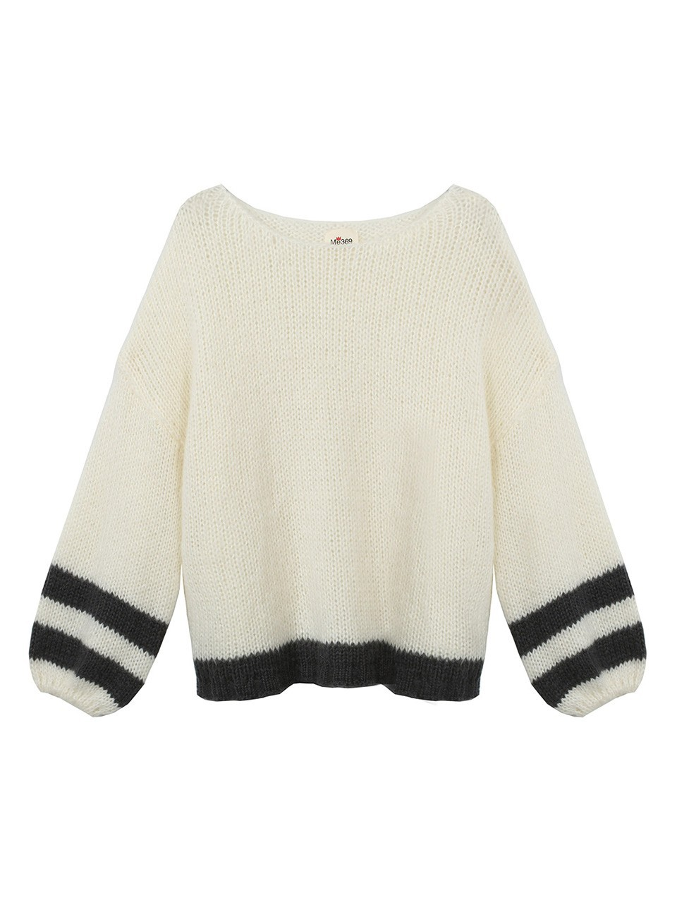 Willow Striped Boat Puffed Sleeve