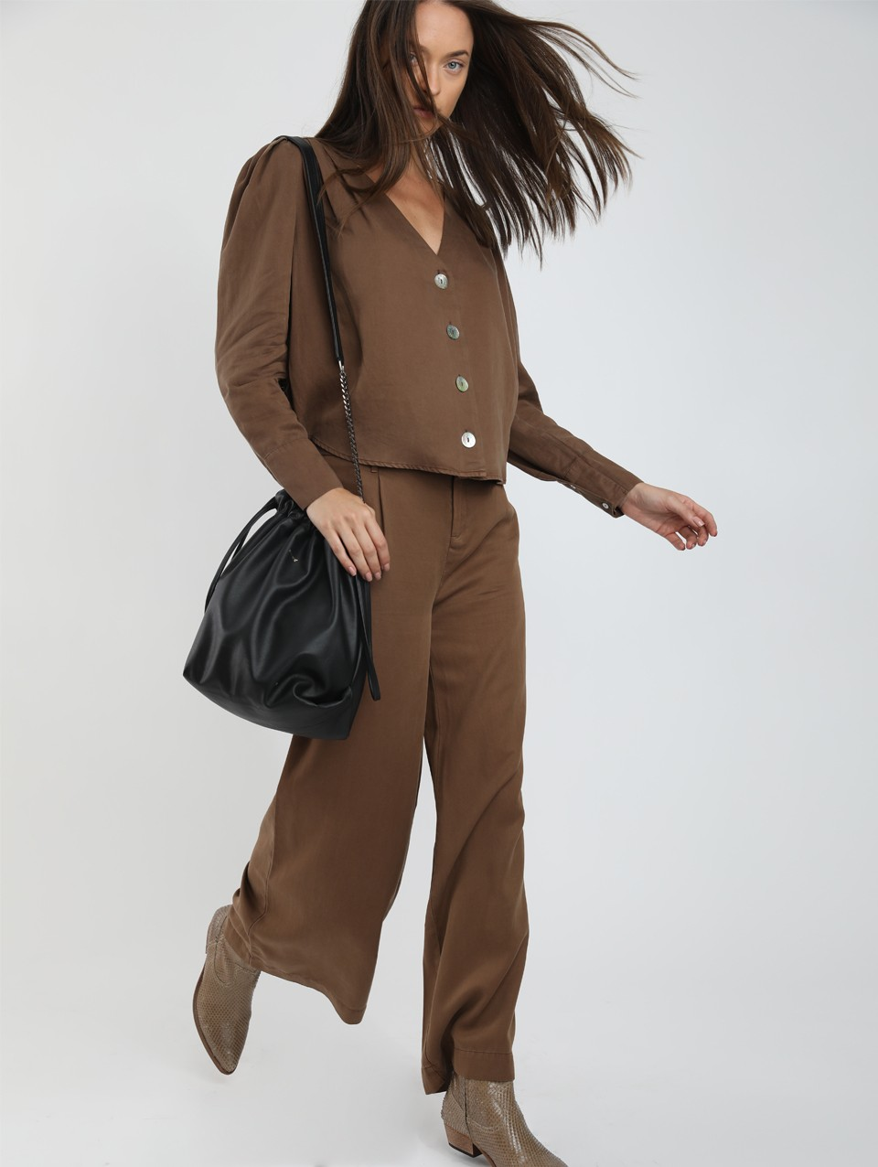 Phil Wide Leg Belted Pant