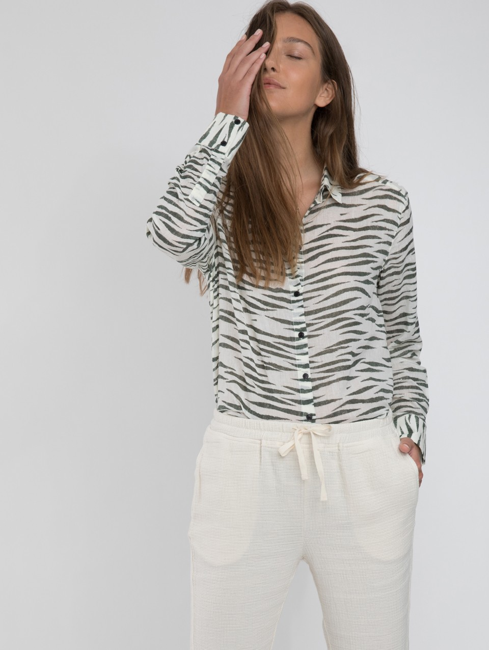 Tali Printed Buttoned Shirt