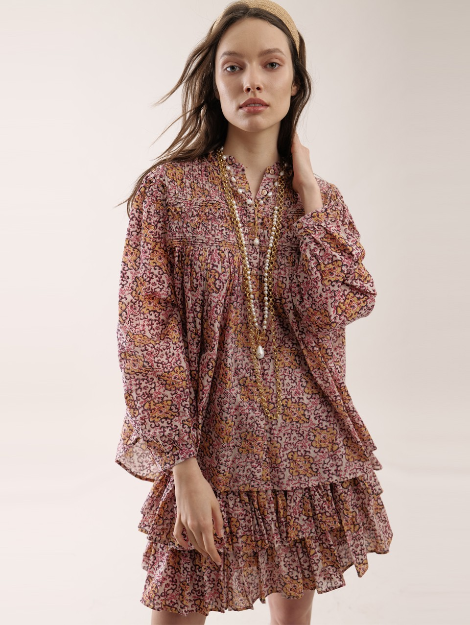 Della Print Shirt Dress