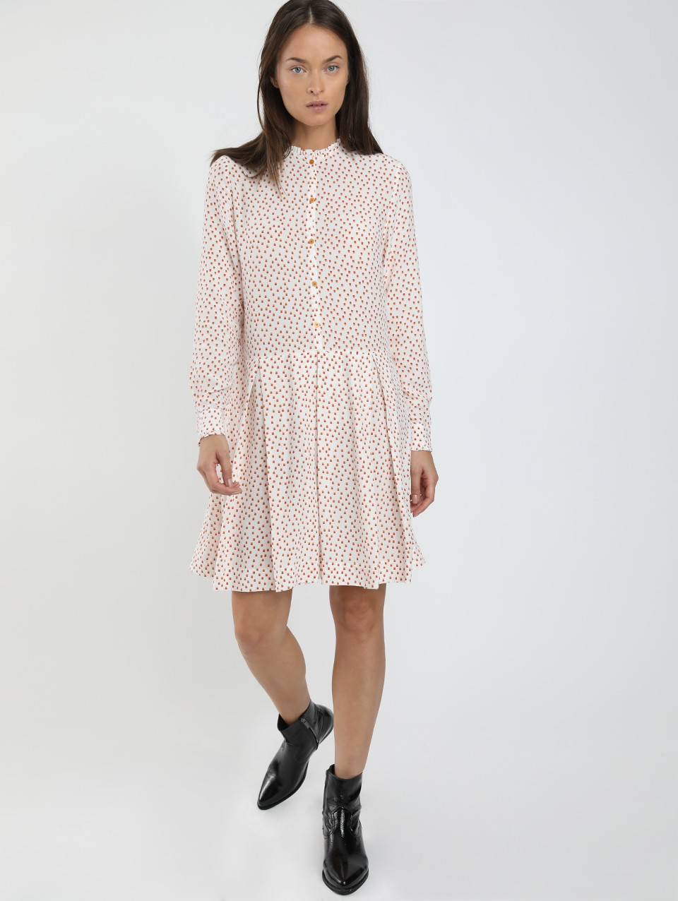 Yasmin Placket Printed Dress