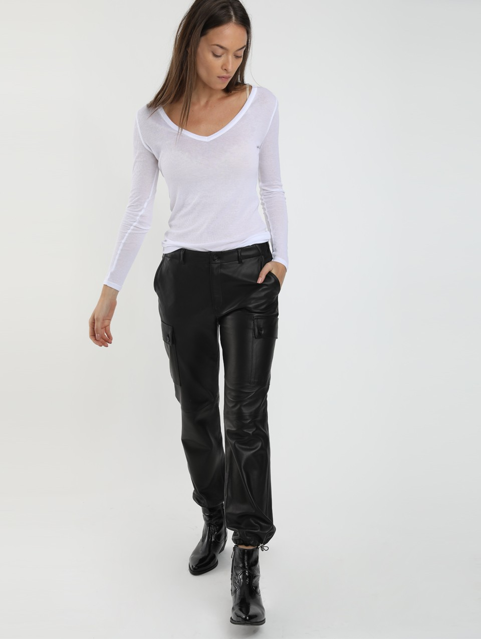 Kori Leather Cargo Pants