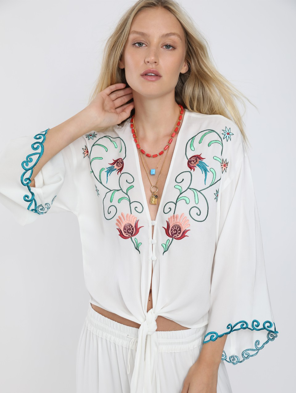 Claire Embroidered Blouse