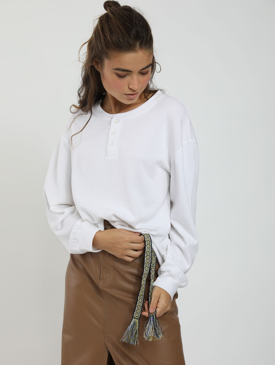 Millie Nicky Placket Top