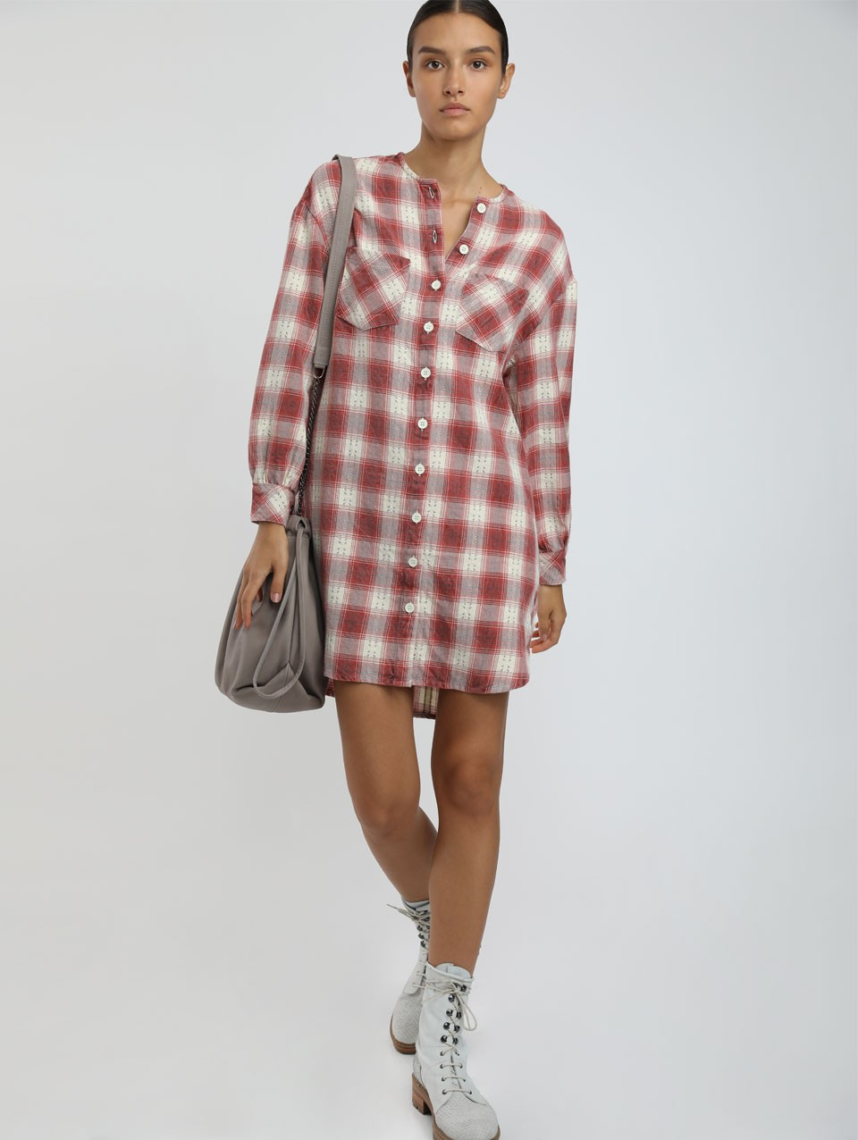 Karla Check Shirt Dress