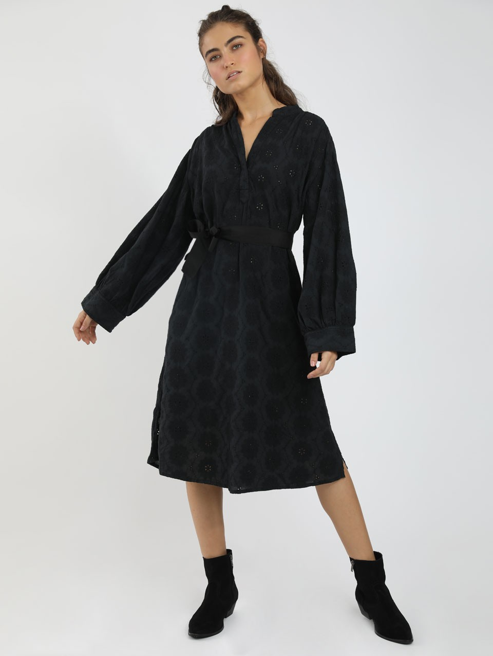 Pala Lace Placket Dress