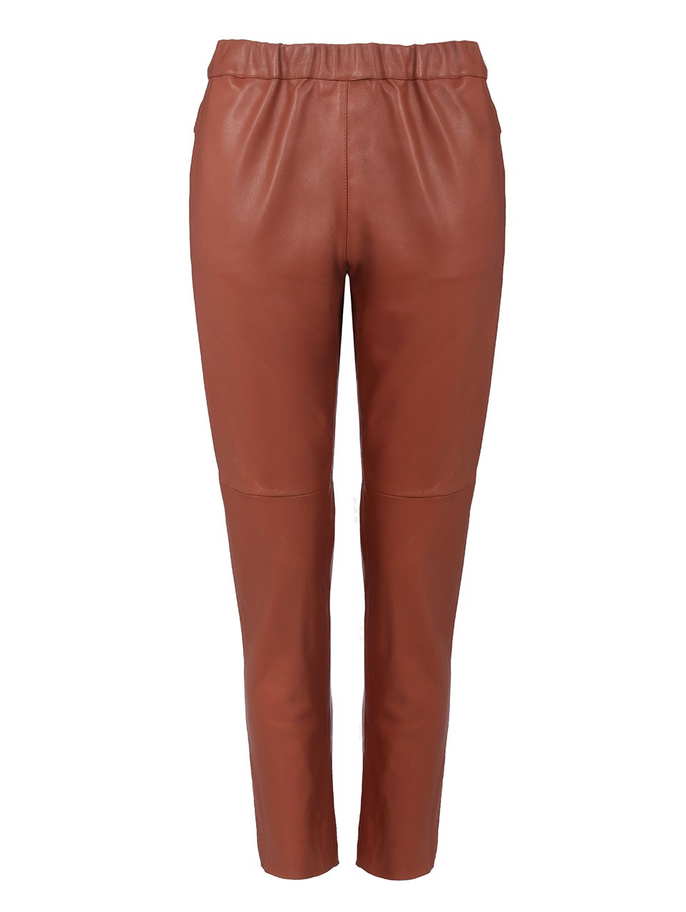 Dino Leather Boyfriend Pants