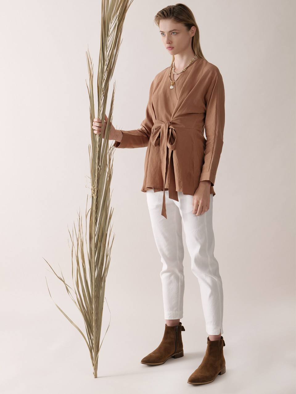 Yanna Wrap Shirt With Belt