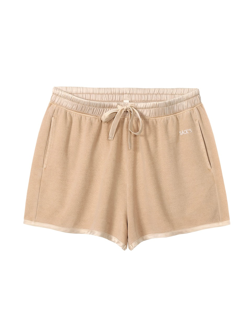 Zahara French Terry With Silk Trimm Shorts