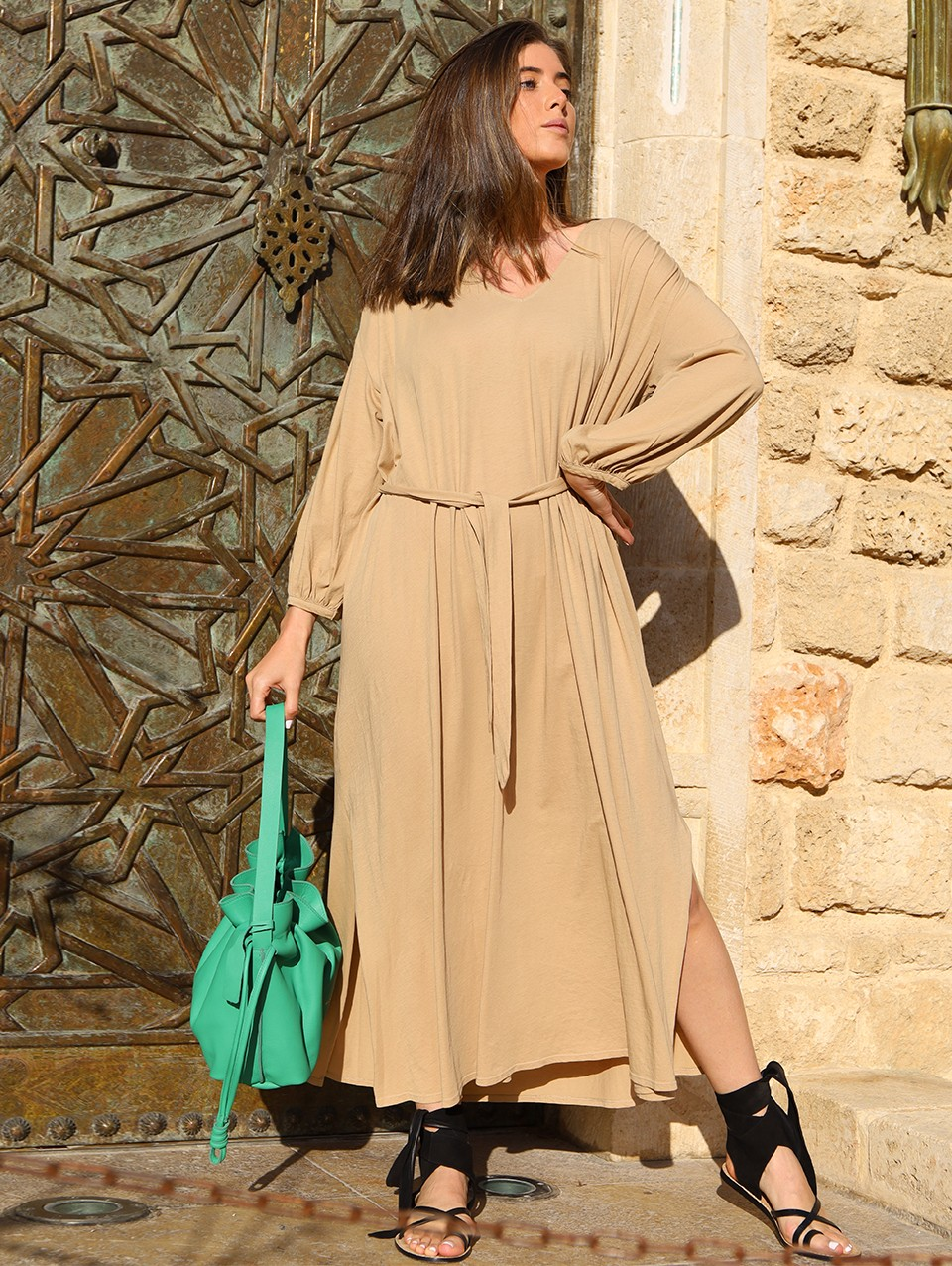 Luna Oversize Maxi Jersy Dress