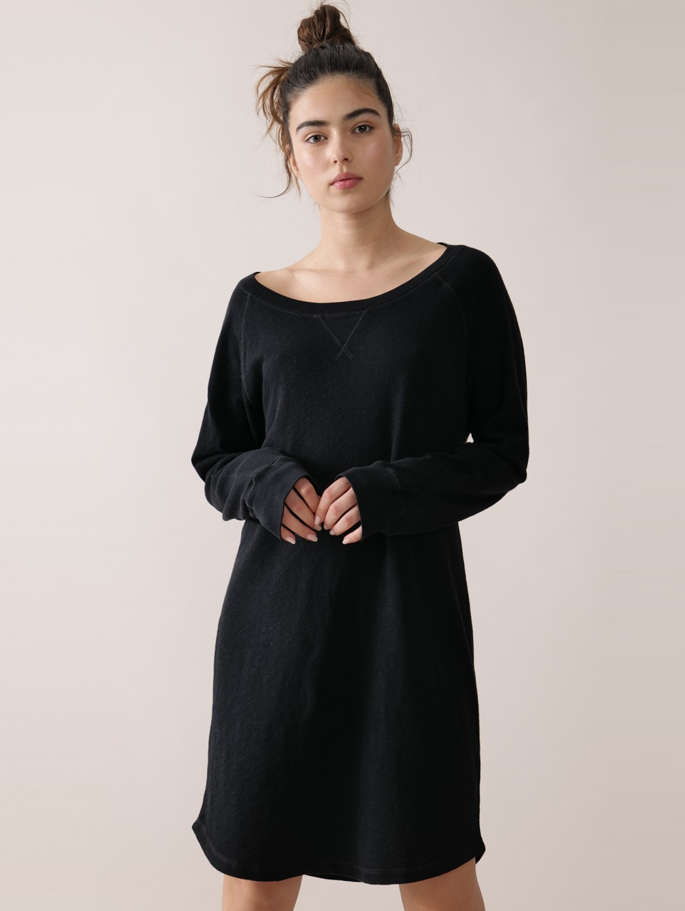 Ami 100% Cotton Raglan Dress