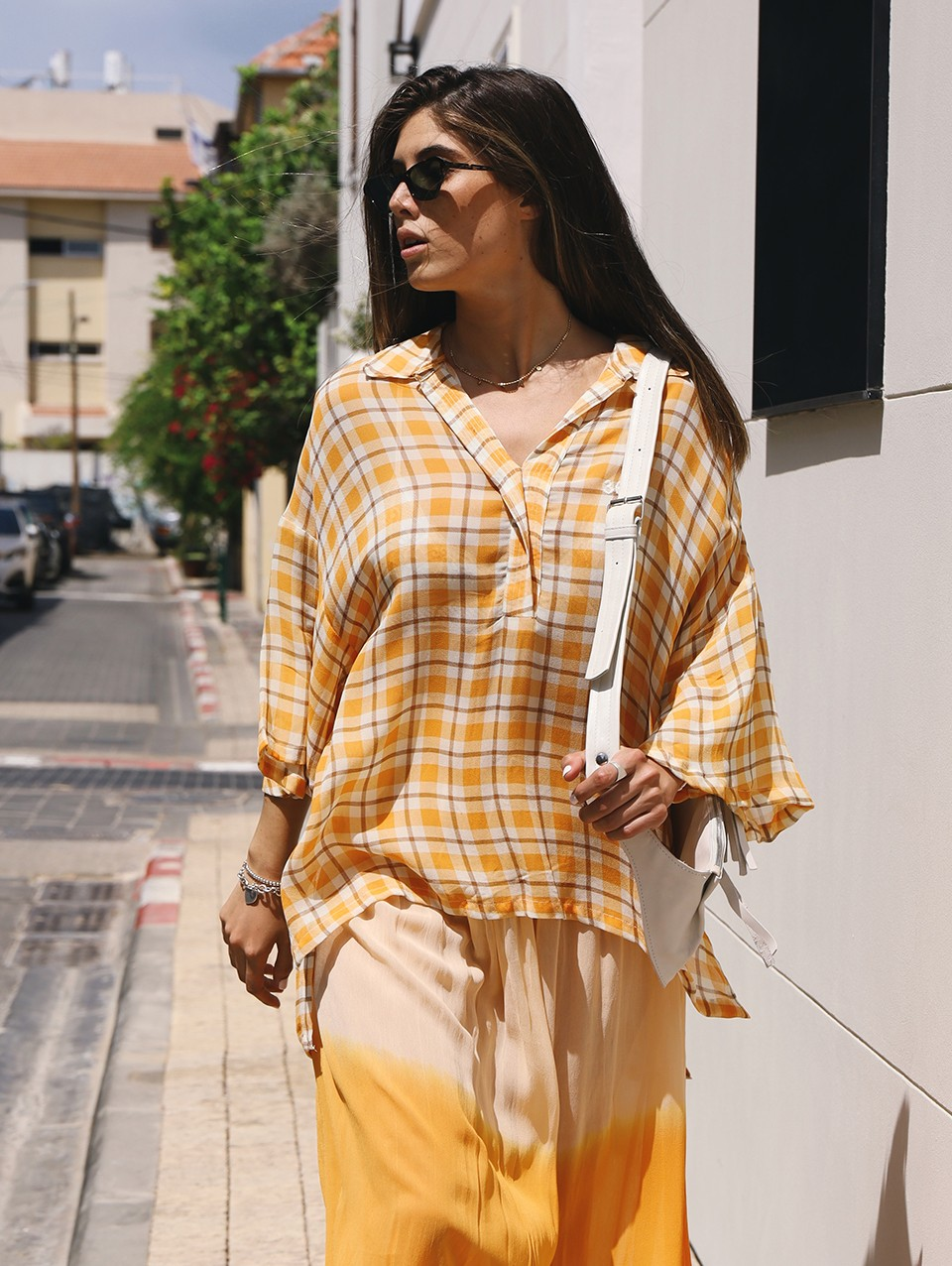 Charley Oversized Polo Blouse