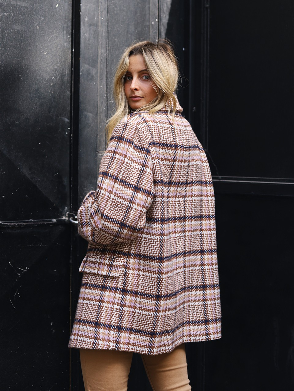 Jace Double Breasted Wool Coat