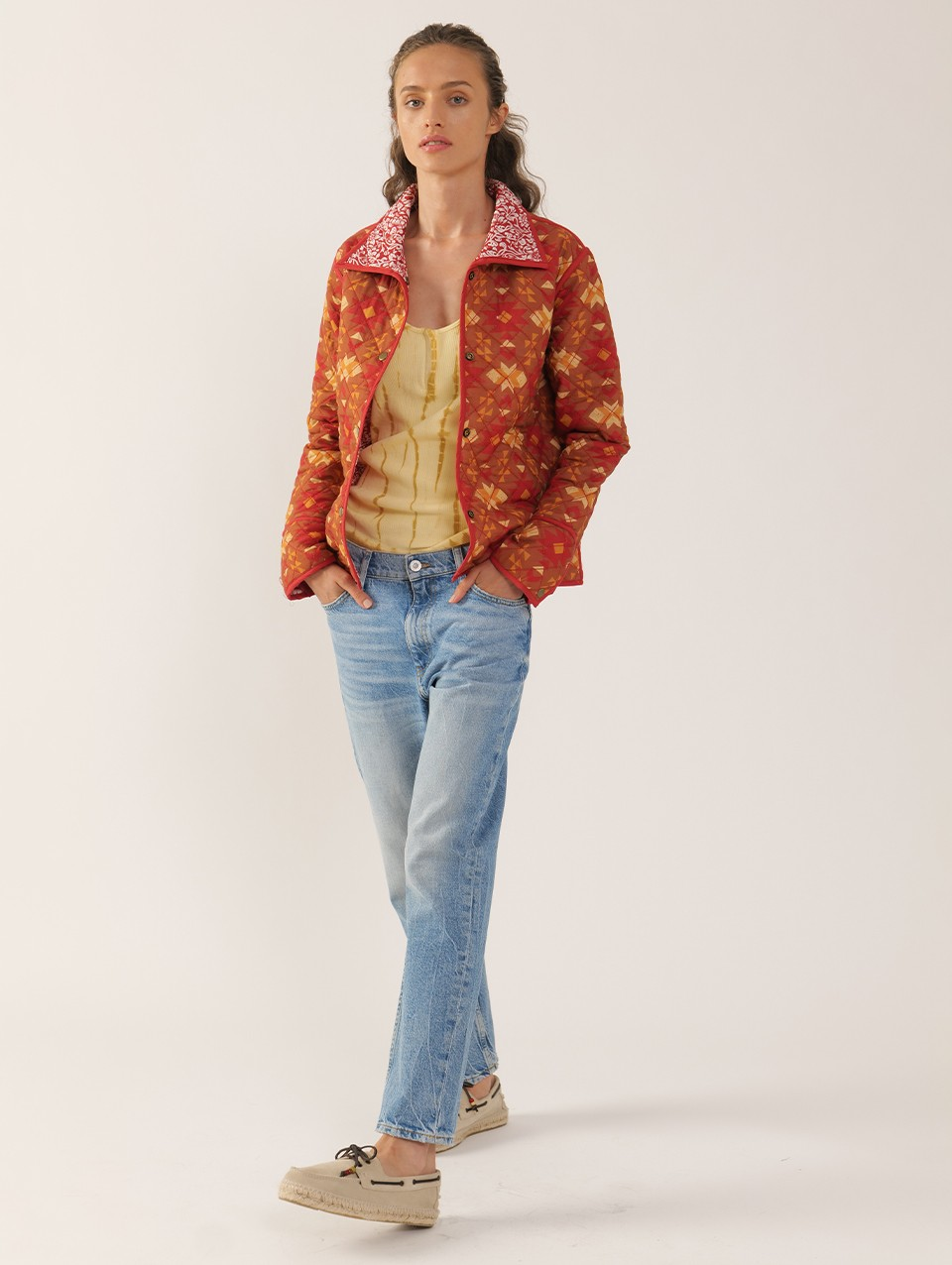 Fiona Quilted Print Reversible Jacket