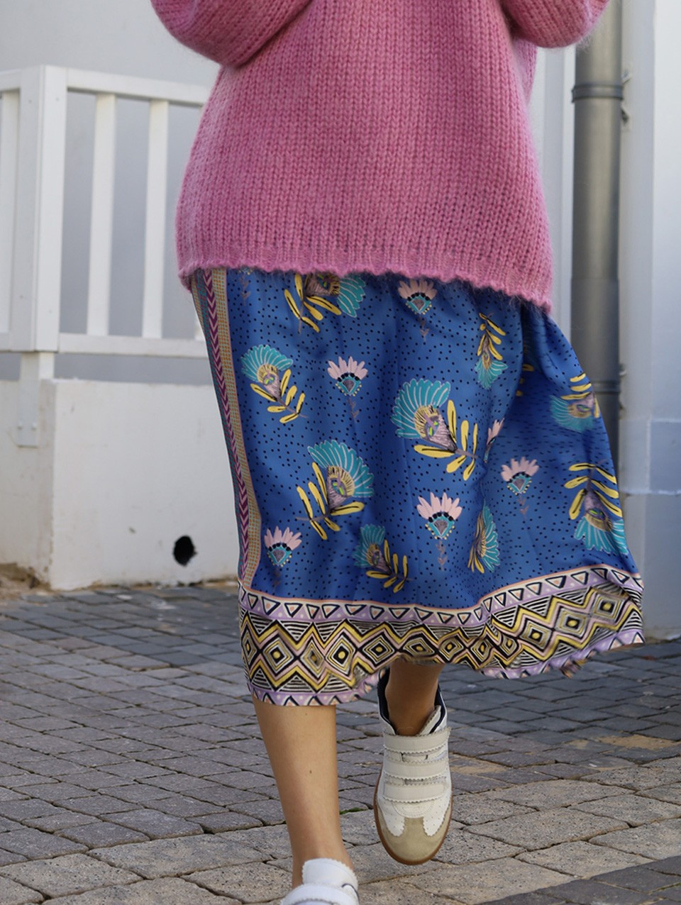 Hailey Printed Midi Skirt