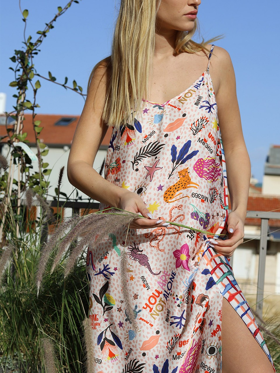 Elna Printed Camisole Dress
