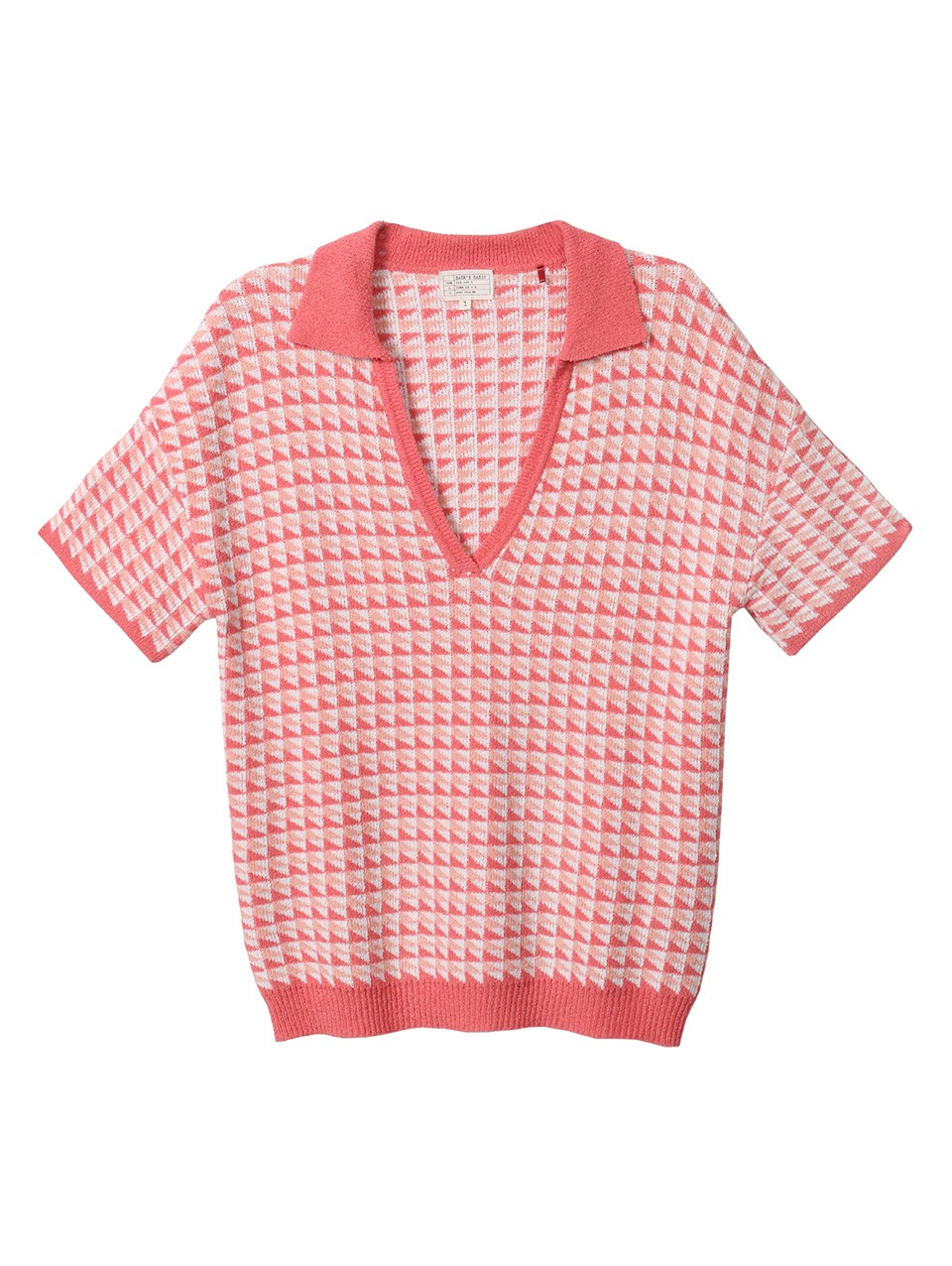 Zola Jaquard Knitted Polo Top