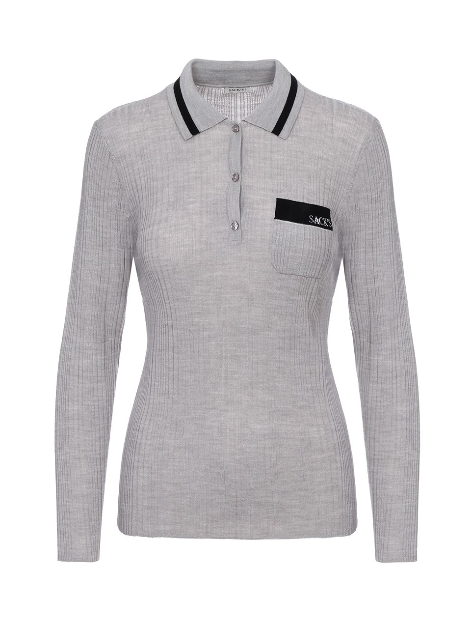 Bruce Knitted Long Sleeved Polo Shirt
